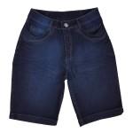 Bermuda Jeans Feminina Cós Largo Lycra