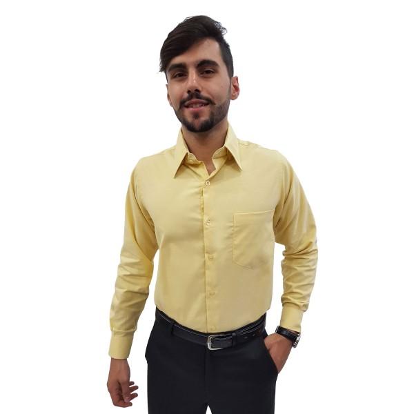Camisa Social Masculina Panamá Manga Longa