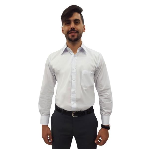 Camisa Social Masculina Manga Longa 100% Algodão
