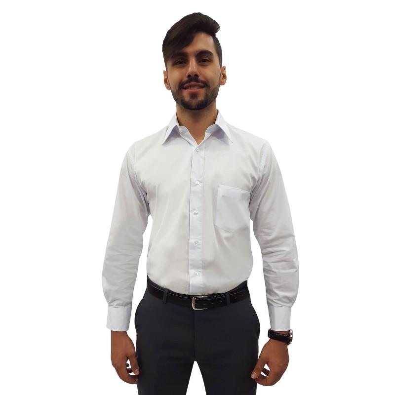 bd2af302f9 Camisa Social Masculina Manga Longa 100% Algodão