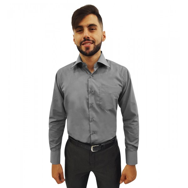 Camisa Social Masculina Manga Longa Mista