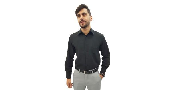 2cd83b027c Camisa Social Masculina Manga Longa Crepe