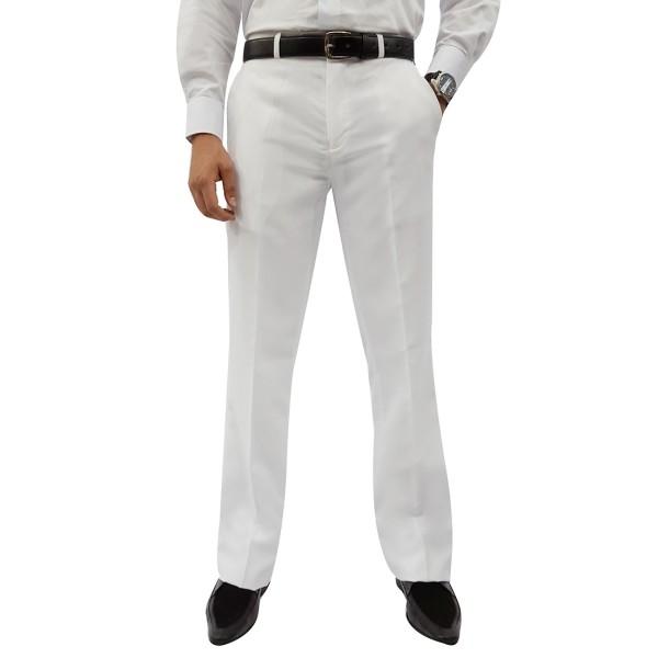 Calça Social Branca Oxford Masculina