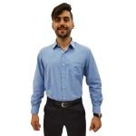 Camisa Social Masculina Manga Longa Mista Trabalhada