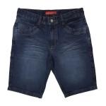 Bermuda Jeans Masculina Modinha Bolso Traseiro Recorte Soft