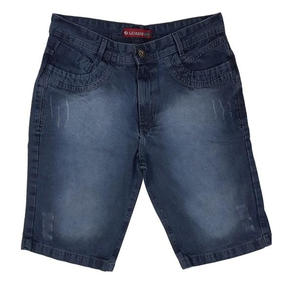 Bermuda Jeans Masculina Modinha Bolso Frontal Detalhado