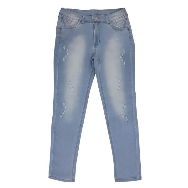 Calça Jeans Feminina Cintura Alta Upass Moletom 3