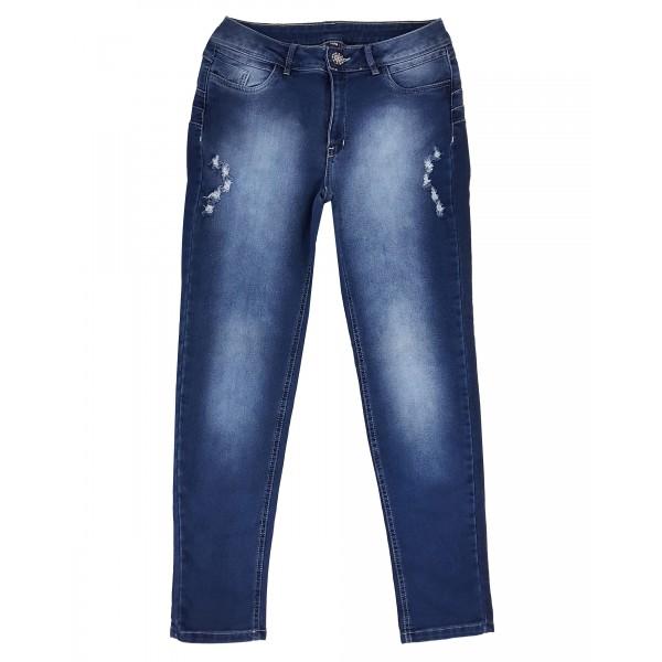 Calça Jeans Feminina Cintura Alta Upass Moletom 4