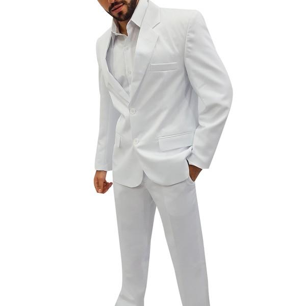 Terno Branco Oxford Masculino