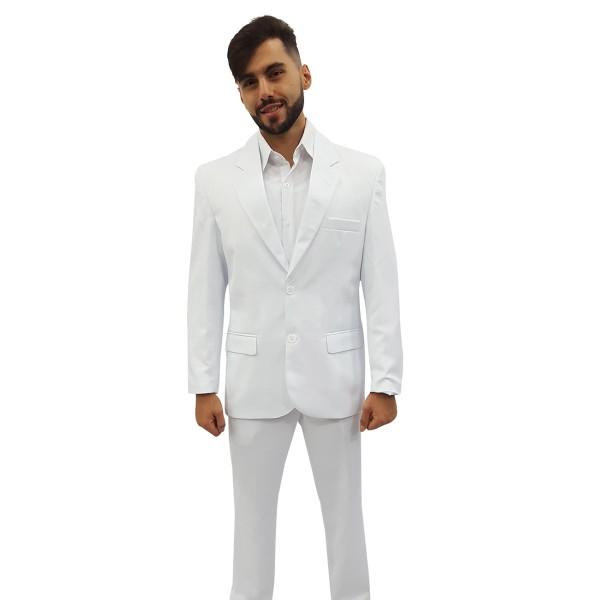Terno Branco Microfibra Masculino