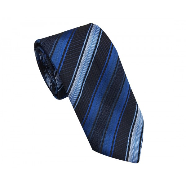 Gravata Slim Adulto Trabalhada Azul
