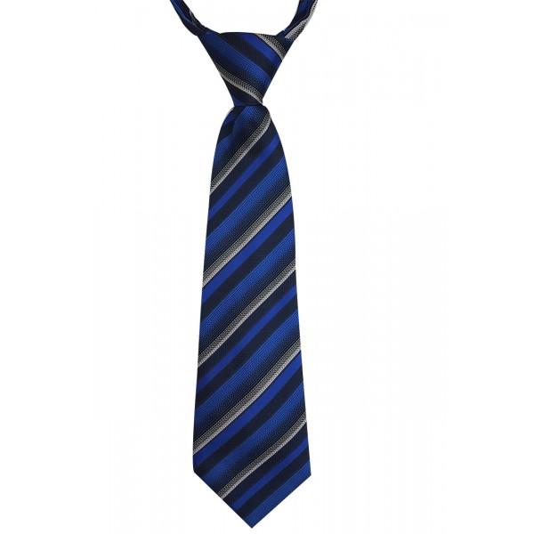 Gravata Infantil Com Nó Trabalhada Azul Royal