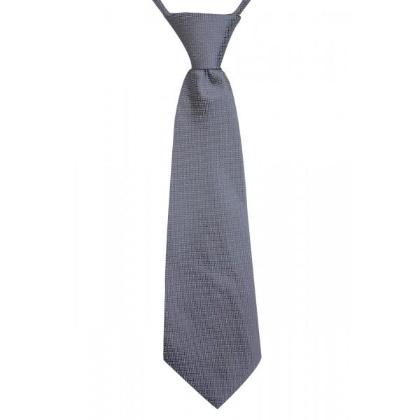 Gravata Infantil Com Nó Trabalhada Cinza