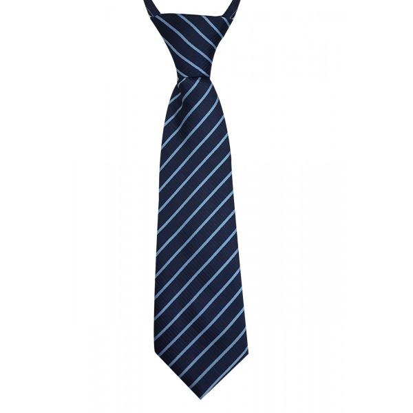 Gravata Infantil Com Nó Trabalhada Azul Marinho