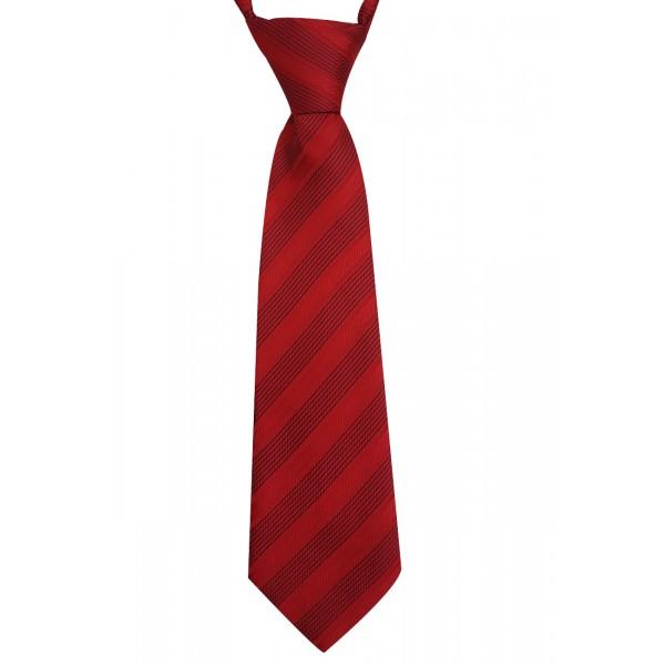 Gravata Infantil Com Nó Trabalhada Vermelho
